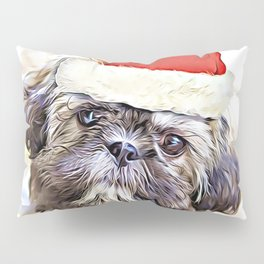Christmas Shih Tzu puppy Pillow Sham