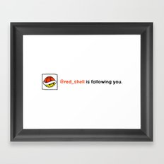@red_shell is following you. Framed Art Print