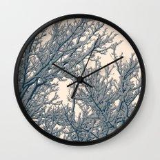 Winter Layers Wall Clock