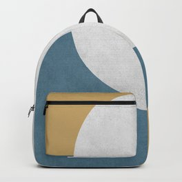 Halfmoon Colorblock - White Blue on Gold Backpack