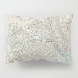 Vintage Map of Providence Rhode Island (1901) Pillow Sham