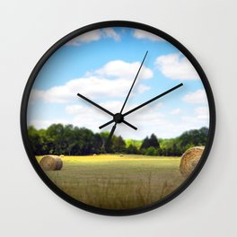 Happy Hayfield Wall Clock