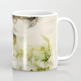 Stork in Pond Watercolor Coffee Mug