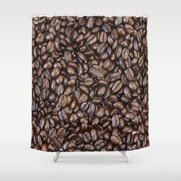 Roasted Dark Colombian Coffee Beans Shower Curtain