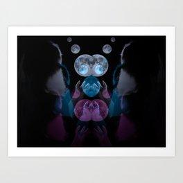 Catching the Moon Art Print