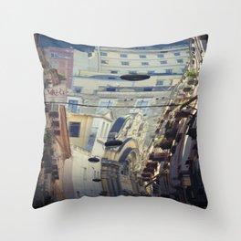 Napoli street Throw Pillow