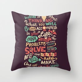 Solving Problems, Making Things Throw Pillow
