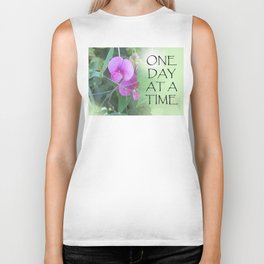 One Day at a Time Sweet Peas Biker Tank