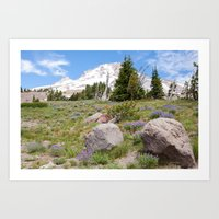 Mount Hood and Lupine Art Print