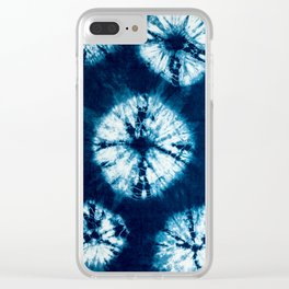 indigo tie dye Clear iPhone Case