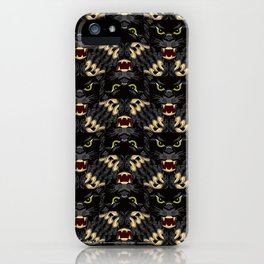 Sam's Black Panther Mascot iPhone Case