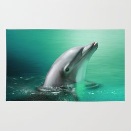 Dancing Dolphins Rug