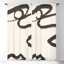 Abstract Face 36 Blackout Curtain