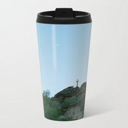 Arizona Desert Moon Metal Travel Mug