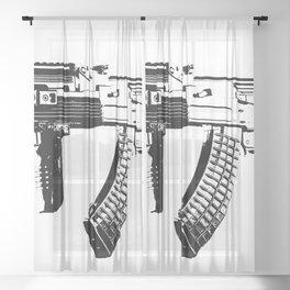 AK-47 Sheer Curtain