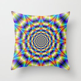 Psychedelic Wheel Throw Pillow