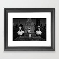Cementary in Los Angeles Framed Art Print