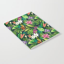 Tropical Lush Sanctuary, A Bohemian Paradise Notebook