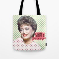 golden girls Tote Bags featuring Golden Girls - Blanche by courtneeeee