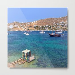 Mykonos, Greece Ocean Relaxing View Metal Print