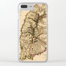Map Of Grenada 1780 Clear iPhone Case