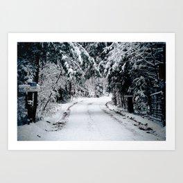 Winter Welcome Art Print