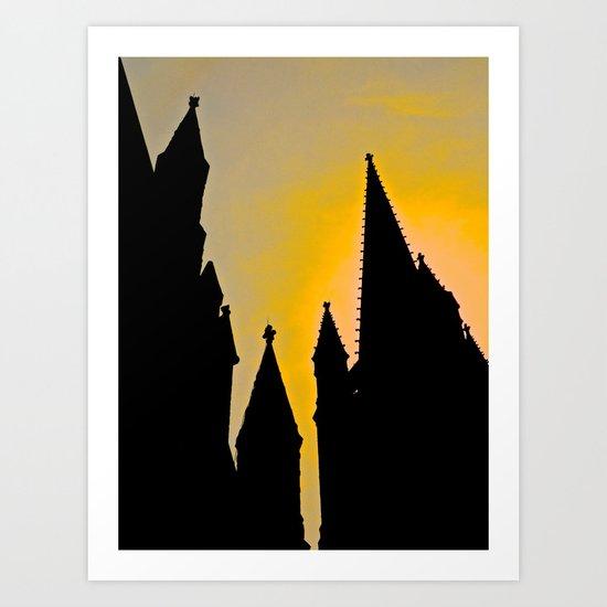 Steeple Sunrise Art Print