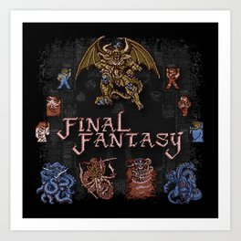 Fantasy Final Art Print