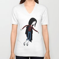 marceline V-neck T-shirts featuring Marceline fly by OverClocked