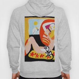 Nude and her Cat    by   Kay Lipton Hoody