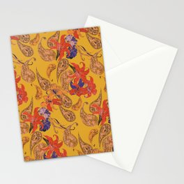 Paisleys and Lilies Stationery Cards