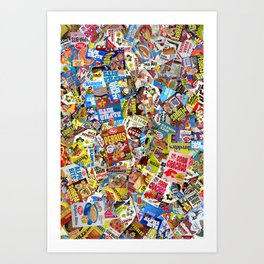 Cereal Boxes Collage Art Print