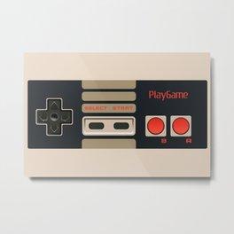 Retro Game Controller Metal Print