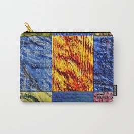 Patchwork color gradient and texture 1 Carry-All Pouch