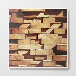 Lumber Ends in Abstract Pattern (Instagram) Metal Print