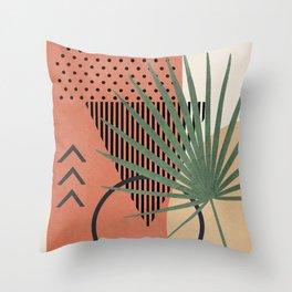 Nature Geometry II Throw Pillow