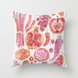 Harvest of Red - Neutral Throw Pillow