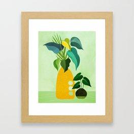 Tropical Siblings / Plant Study Series Framed Art Print