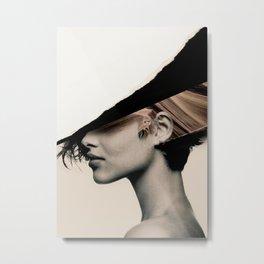 woman / collage portrait Metal Print