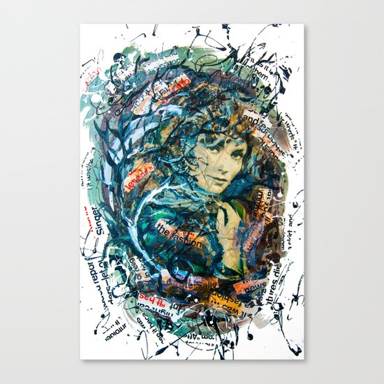 the woman's face #2 Canvas Print