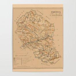 Map Of Cordoba 1800 Poster
