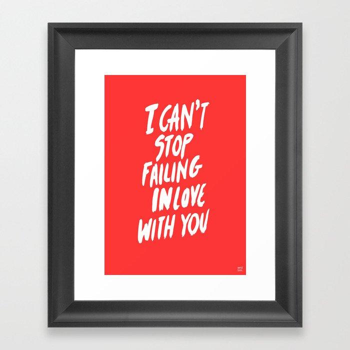 Failing Framed Art Print