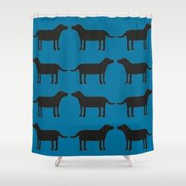 Labrador svart Shower Curtain