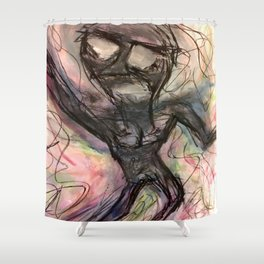 A Flippant Cascade. Shower Curtain