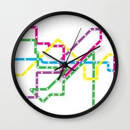 Chicago 'L' Train Map Wall Clock