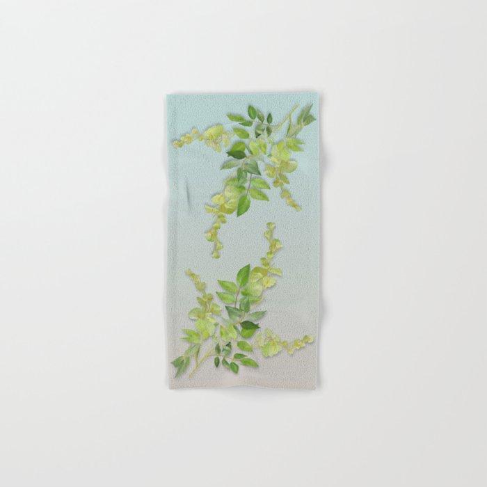 Yellow Tiny Flowers Hand & Bath Towel