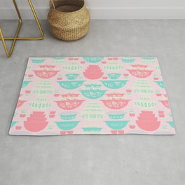 Pink and Turquoise Everything Rug