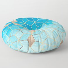 Sea And Sky Cubes (Custom Request) Floor Pillow