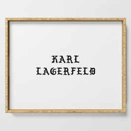 Karl Lagerfeld Calligraphy Serving Tray