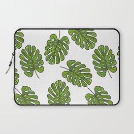 UrbanNesian Green Monstera Leaf Laptop Sleeve